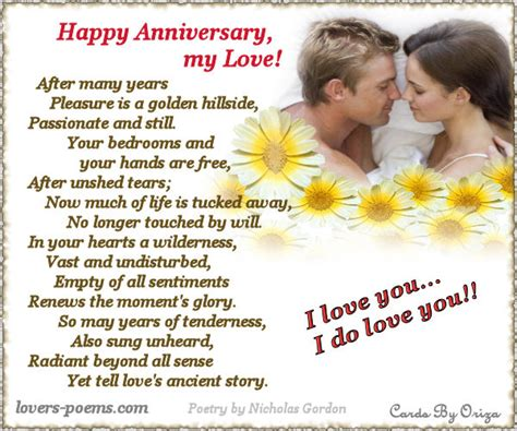 Wedding Anniversary Card Words For by Anniversary Cards By Oriza Words And