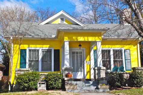 Yellow Home by Yellow Houses With White Trim Shutters 2016