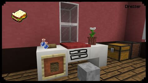 How To Make A Drawer In Minecraft minecraft how to make a dresser