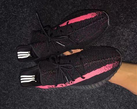 adidas yeezy 350 boost v2 black pink in sneakers
