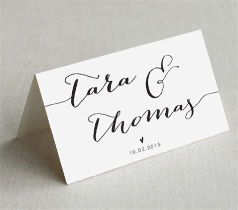 Printable Wedding Place Cards, Custom Wedding Name Cards