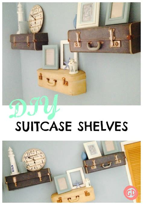 How To Make A Suitcase Shelf by Diy Suitcase Shelves Grillo Designs