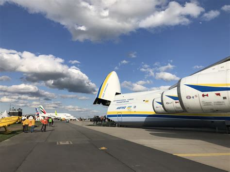 antonov lands the an 225 in berlin for ila air show air cargo week