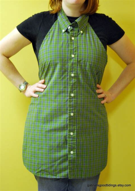 apron pattern made from man s shirt apron from a dress shirt christmas in july the happy