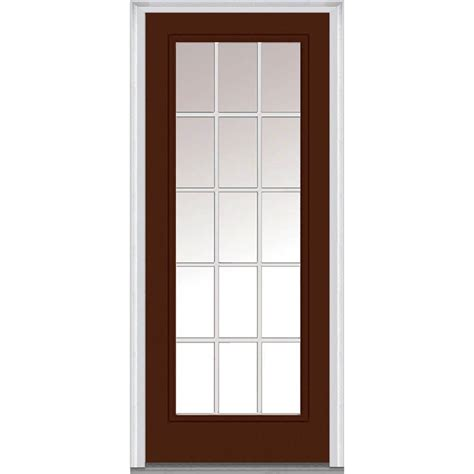 30 X 80 Exterior Door With Window Mmi Door 30 In X 80 In Grilles Between Glass Left Lite Classic Painted Steel Prehung