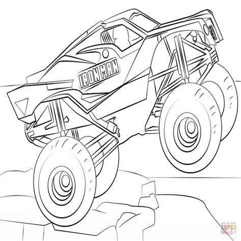 iron man monster truck coloring page dibujo de iron man monster truck para colorear dibujos