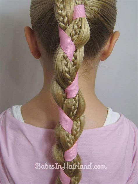 easy hairstyles ribbon 62 best images about tresses on pinterest coiffures