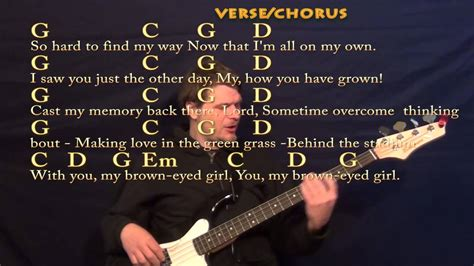 strum pattern for brown eyed girl brown eyed girl van morrison easy bass cover lesson with