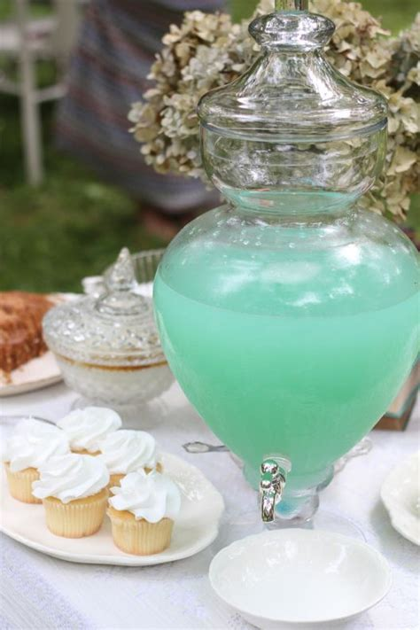 mint colored mint colored lemonade lemonade a bit of blue