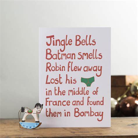 jingle bells batman smells card  lovely jojos notonthehighstreetcom