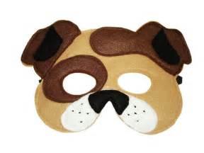 children s brown dog felt mask