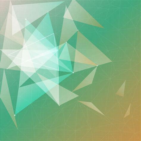segitiga hijau kuning gradasi warna latar belakang vector
