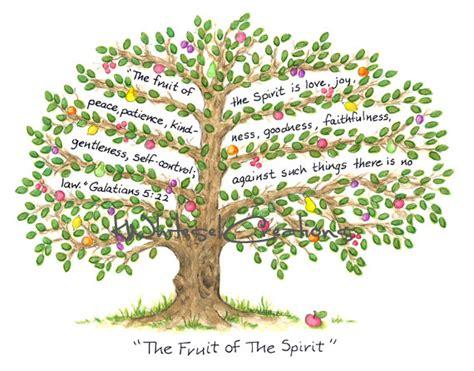 fruit of the spirit tree scripture fruit of the spirit by kwhiteselcreations on