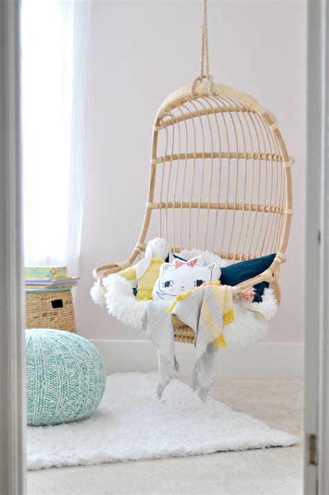 swing chairs for bedrooms orc girl s room the hanging chair is in fall 2015