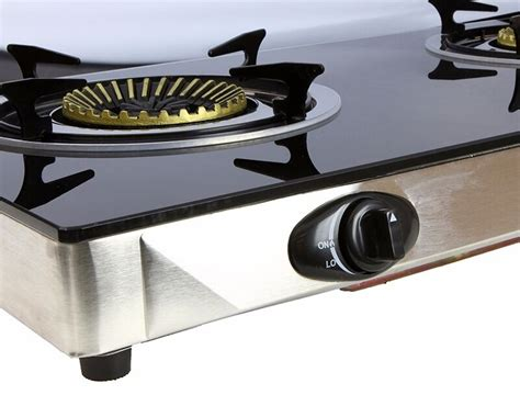 propane gas cooktop propane gas range stove deluxe 2 burner tempered glass