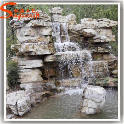 backyard waterfalls for sale cheap fiber glass rock waterfall garden landscape fountain for sale buy waterfall