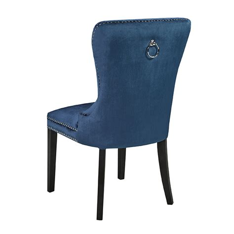 Blue Velvet Dining Chairs Euphoria Blue Velvet Dining Chair Xcella