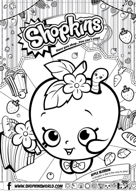 free coloring pages of shopkins print