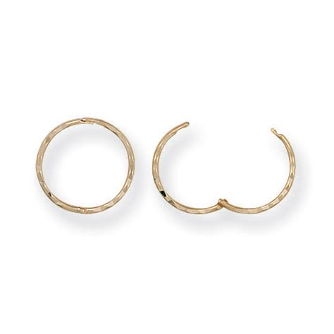cut hinged 9ct gold sleeper earrings