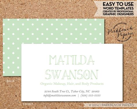 now card template business card template green and white dots diy