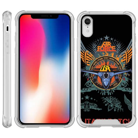 turtlearmor 174 for apple iphone xr clear bumper fitted ultra slim tpu air