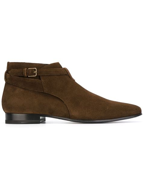mens laurent boots laurent ankle boots in brown for lyst