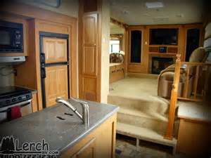 Fifth Wheel With Living Room Upstairs Front Living Room Used 2011 Forest River Wildcat 343flr