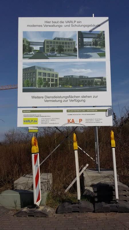 Baustellenschild Rlp by Mainz Bauvorhaben An Der Haifa Allee Deutsches