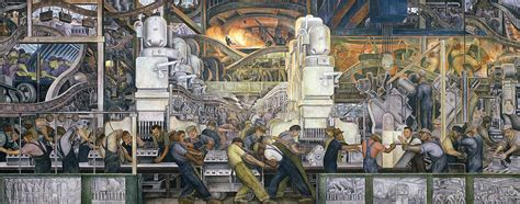 Stone Wall Murals detroit industry north wall by diego rivera