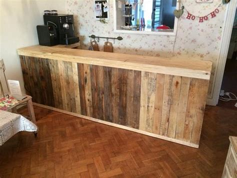 how to build a bar top counter recycled wood pallet bar ideas pallet ideas recycled