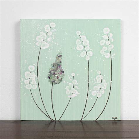 Mint Green Nursery Decor Original Painting On Canvas Mint Green Nursery Decor Lavender Canvas Wall Small 10x10