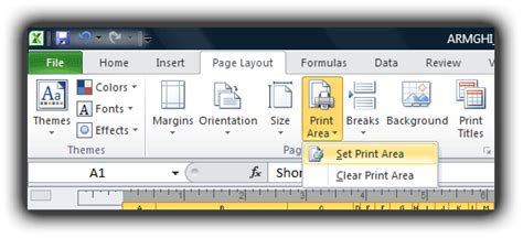 adjust printable area excel excel 2010 how to select or change the print area