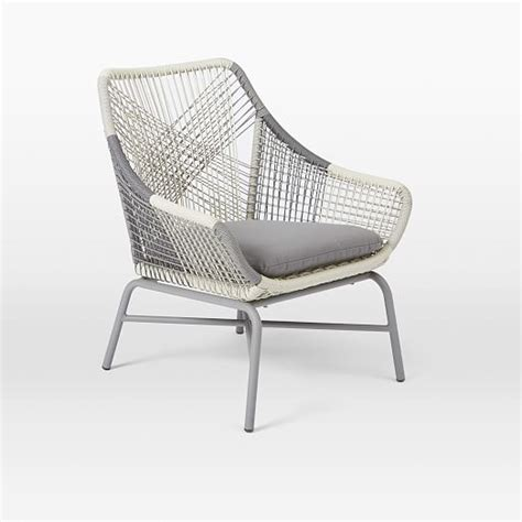 gray outdoor lounge chair huron small lounge chair cushion gray west elm