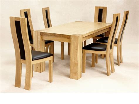 6 Chairs Dining Table Oak Dining Room Table And 6 Chairs Alliancemv