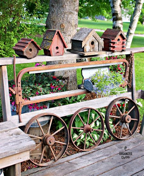 garden made from junk diy salvaged junk projects 385funky junk interiors
