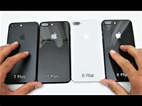 unboxing iphone 8 plus space gray vs iphone 7 plus black and jet black