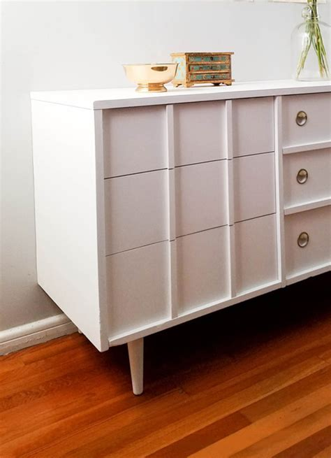 mid century modern dresser redesign with fresh paint behr