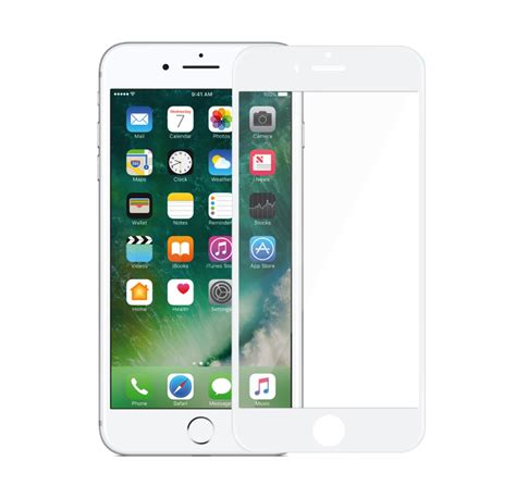 iphone  full size tempered glass screen protector white