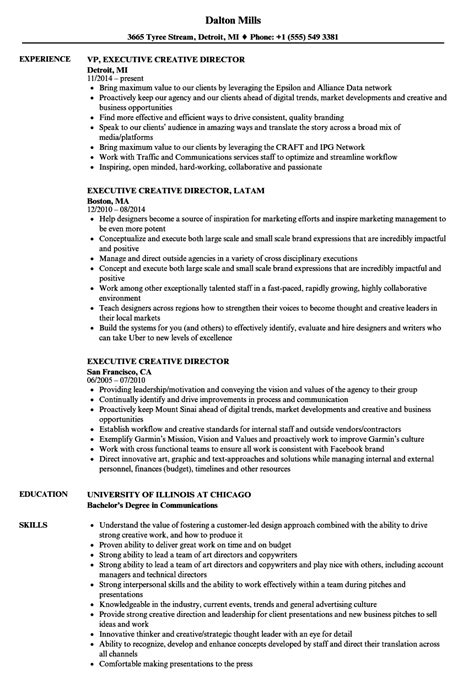 Creative Director Resume by Executive Creative Director Resume Sles Velvet