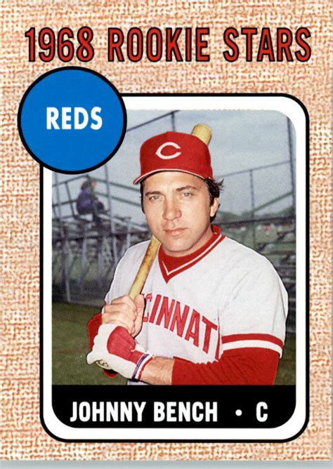 johnny bench rookie 2006 topps rookie of the week 16 johnny bench 68 nm mt