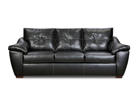 ebony couch lux leather black sofa for living room 3 part home inspiring