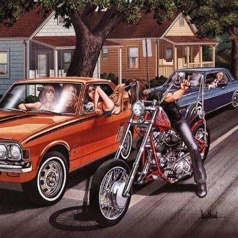 Mc P S Motorradwerkstatt by David Mann Artwork This Is My Biker Attitude Board
