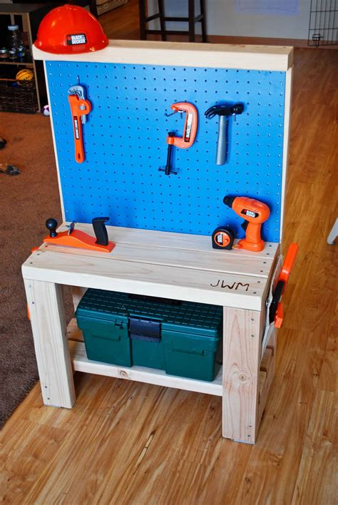 child s tool bench build childs work bench plans diy pdf bench seat storage
