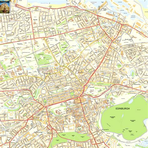printable maps edinburgh edinburgh offline street map including edinburgh castle