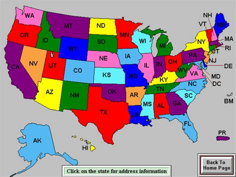 united states map of abbreviations usga u s regional and state associaions