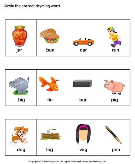 Rhyming Worksheets For Kindergarten by Rhyming Words Activities New Calendar Template Site