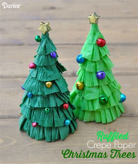 christmas tree craft tutorial ruffled crepe paper darice