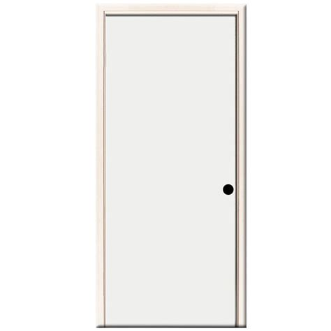 24 Inch Exterior Door Home Depot Steves Sons 24 In X 80 In Premium Flush Primed White Left Inswing Steel Prehung Front