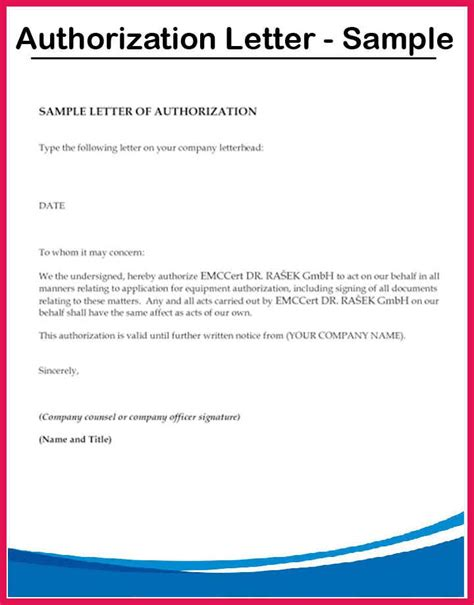 authorization letter format for pawn shop authorization letter sle sop exles