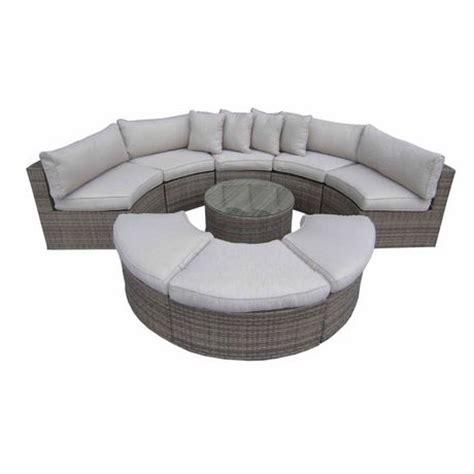 half moon couch henryka 9 piece half moon sofa set walmart ca